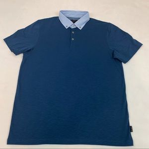 Ted Baker contrast collar polo shirt short sleeves